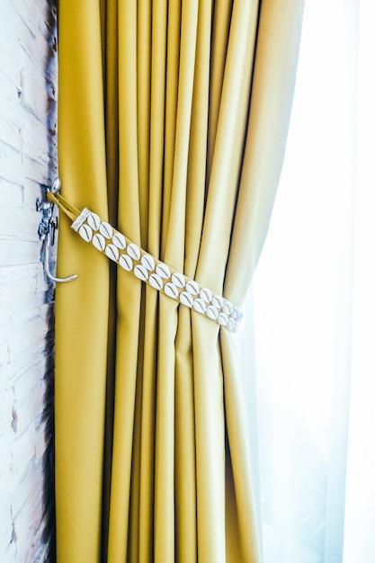 gordijnen decoratie licht klassieke achtergrond gratis foto