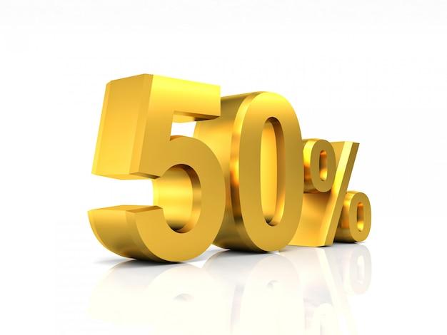 Gouden 50 korting Premium Foto