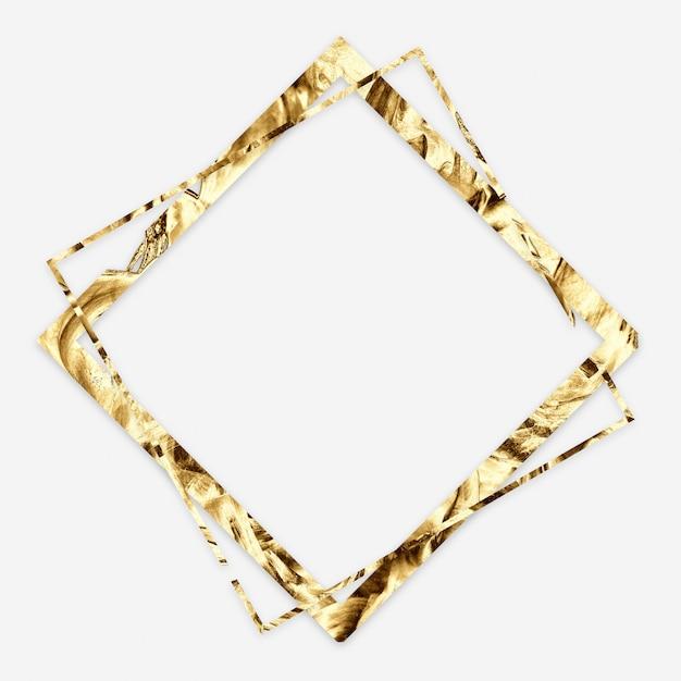 Gouden abstract minimaal frame Premium Foto