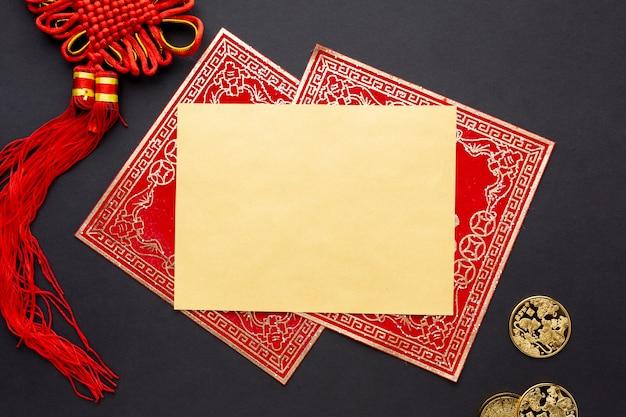 Gouden chinees nieuwjaarskaartmodel Gratis Foto