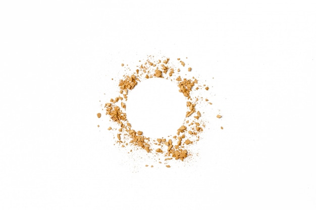 Gouden cirkel verpletterde oogschaduwtextuur. Premium Foto
