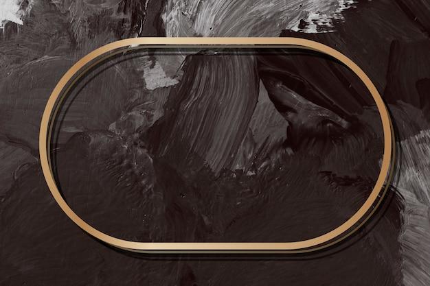 Gouden frame op een kaart Gratis Foto