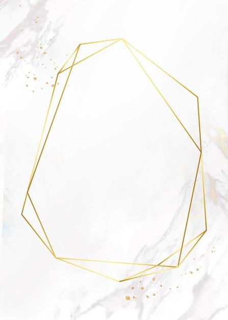Gouden frame op marmeren achtergrond Gratis Foto