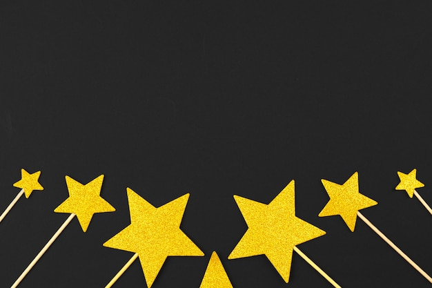 Gouden ster decoratie Premium Foto