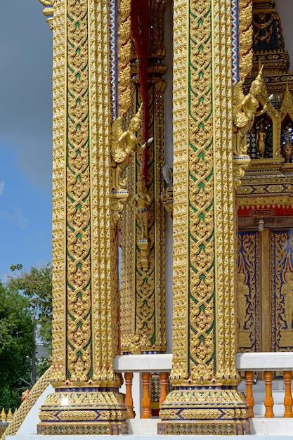 Gouden tempel paal Premium Foto