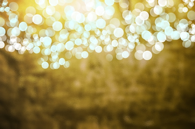 Goudkleurige textuur retro-stijl met bokeh Premium Foto