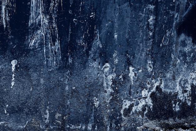 Graan blauwe verf muur achtergrond of textuur Premium Foto