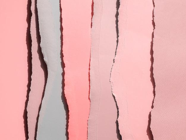 Gradiëntroze van abstracte gescheurde papieren randen Gratis Foto