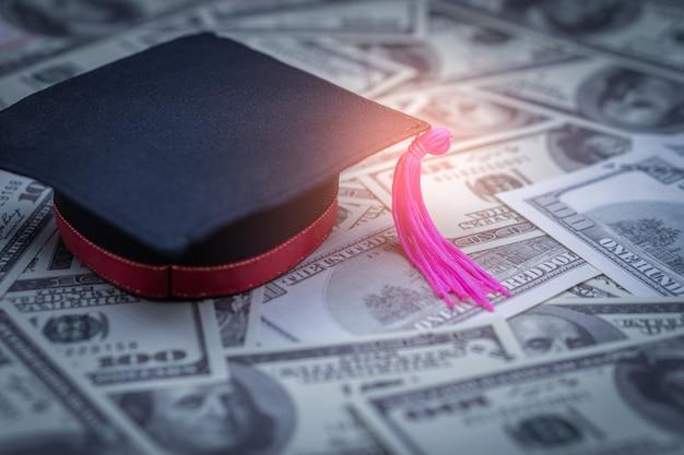 Graduation cap honderd dollar Premium Foto