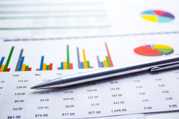 Grafiekpapier. financieel, account, statistieken, analytische onderzoeksdata-economie, business Premium Foto