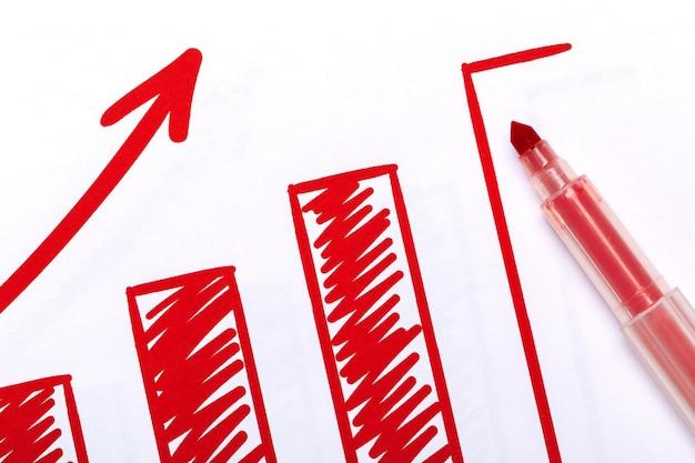 Grafische grafiek analyse documenten Premium Foto