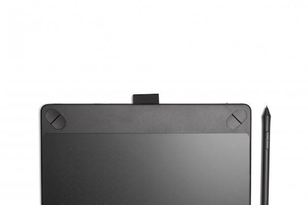 Grafische tablet met pen voor illustratoren en ontwerpers, geïsoleerd Premium Foto
