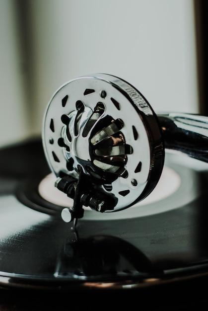 Grammofoon speler close-up Premium Foto