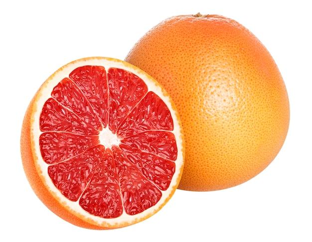 Grapefruit op wit wordt geïsoleerd dat Premium Foto