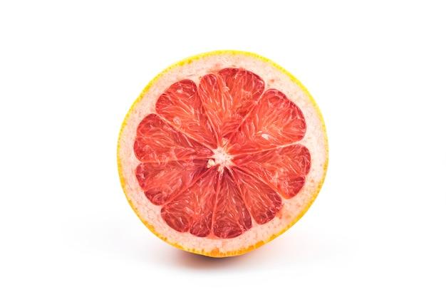 Grapefruit op wit Gratis Foto
