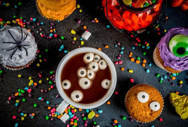 Grappige kindertraktaties voor halloween Premium Foto
