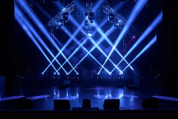 Gratis podium met verlichting Premium Foto