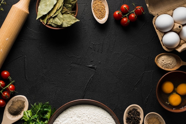 Grens van ingrediënten om te koken Gratis Foto