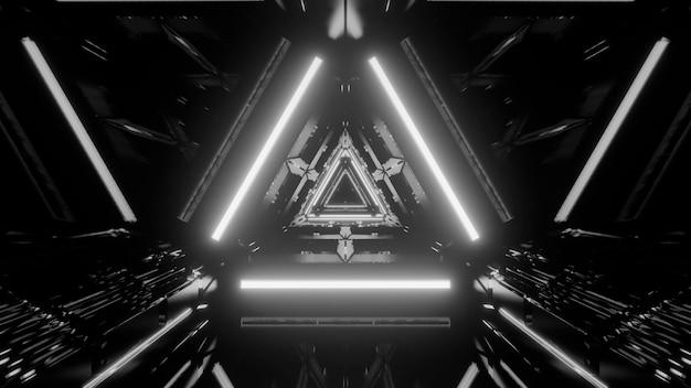 Grijswaarden futuristische abstracte achtergrond met lichteffecten Gratis Foto