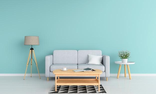 Woonkamer Grijze Bank : Moderne woonkamer met moderne grijze bank en houten lijst stock