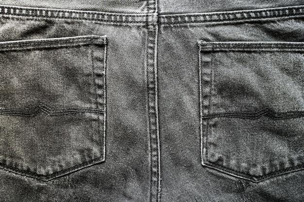 Grijze jeanszakken. Premium Foto