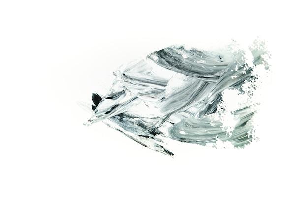 Grijze lijn op wit canvas Gratis Foto