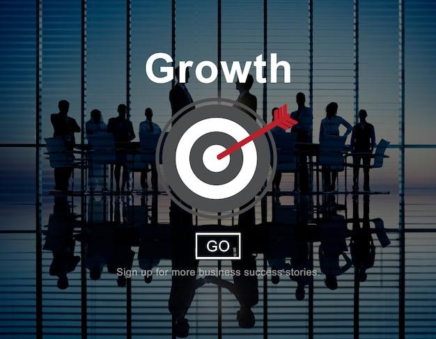 Groei vooruitgang ontwikkeling pictogram concept Gratis Foto