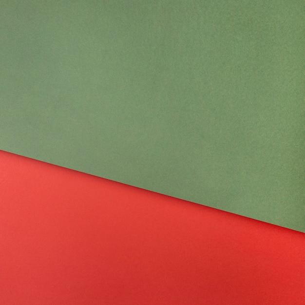 Groen en rood papier kopie ruimte Premium Foto