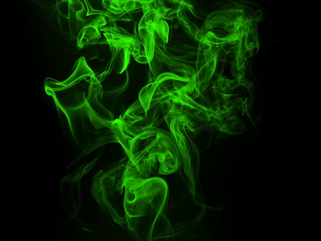 Groen rook abstract concept als achtergrond en duisternis Premium Foto