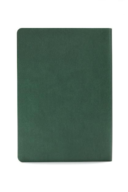 Groene agenda die op witte achtergrond wordt geïsoleerd Premium Foto