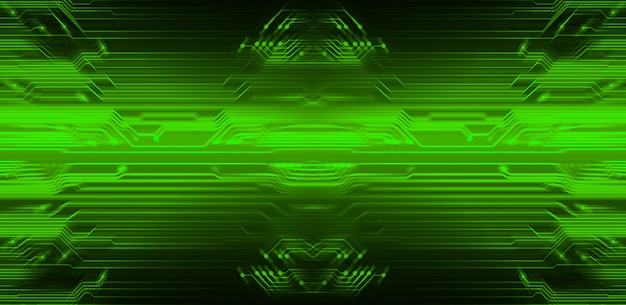 Groene cyber circuit toekomstige technologie achtergrond Premium Foto