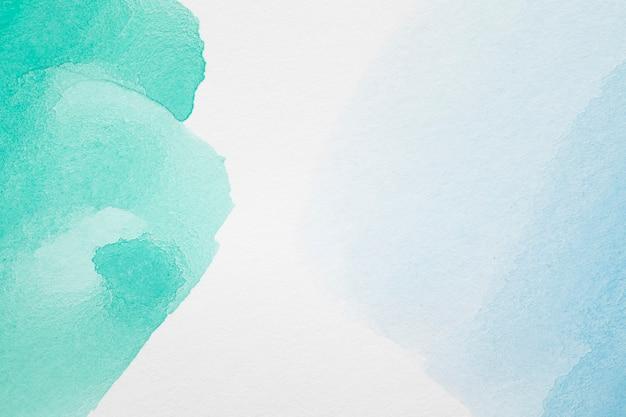 Groene en blauwe abstracte pasteltinten Premium Foto