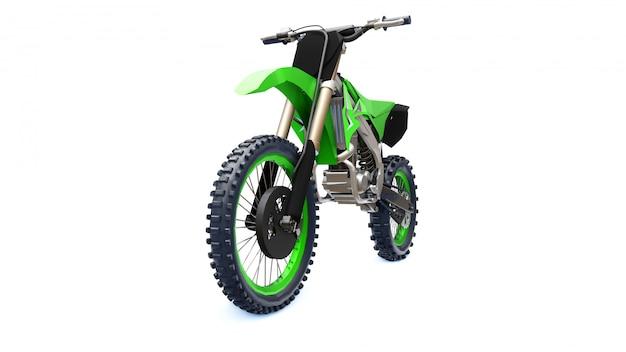 Groene en zwarte sportfiets voor in het hele land Premium Foto