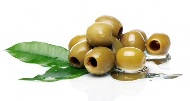 Groene olijven in olie Gratis Foto