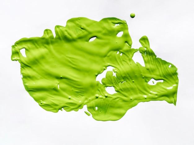Groene verf op wit canvas Gratis Foto
