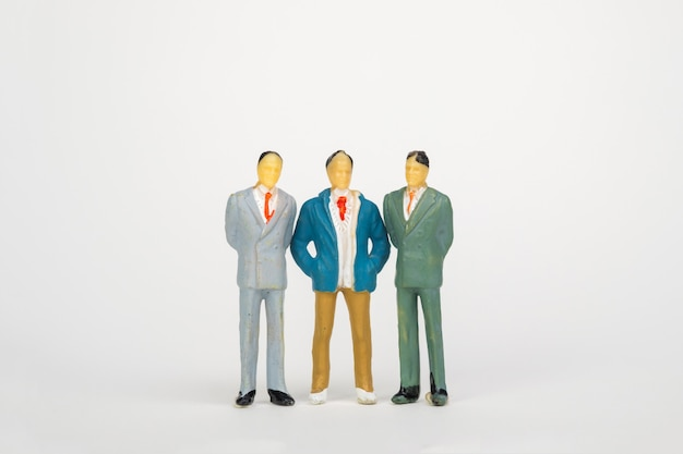 Groep figuur miniatuurzakenman Premium Foto