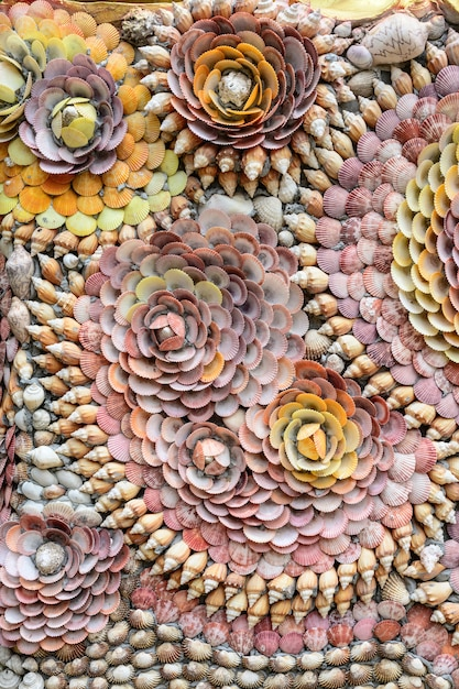 Groep schaaldieren en tweekleppige schelpdier detaill textuurachtergrond Premium Foto