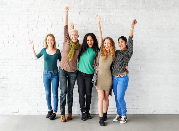 Groep vrouwen geluk vrolijk concept Premium Foto