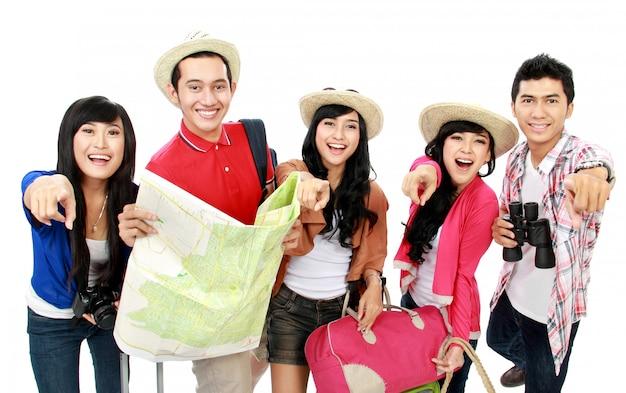 Groepen toeristen Premium Foto