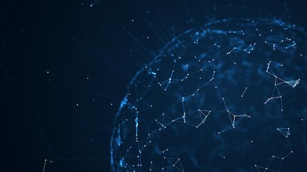 Groot datanetwerk en iot-concept. Premium Foto