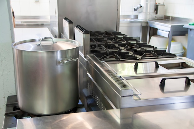 Grote industriële keuken Premium Foto