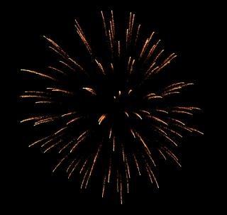 Grote kleurrijke vuurwerk, rook Gratis Foto