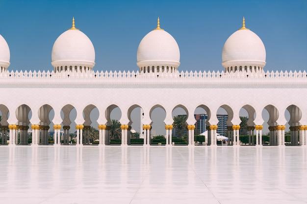 Grote moskee van abu dhabi Premium Foto