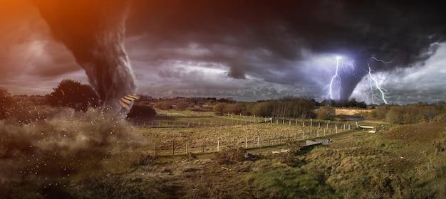 Grote tornado-ramp Premium Foto
