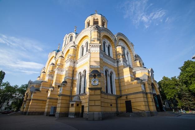 Grote vladimir kathedraal in kiev Premium Foto