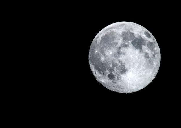 Grote volle maan Premium Foto
