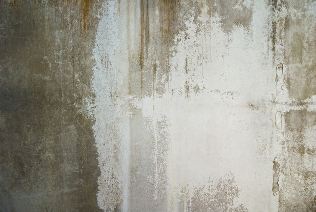 Grunge barstte oude concrete muurtextuur en achtergrond. Premium Foto