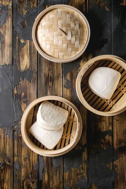 Gua bao broodjes Premium Foto