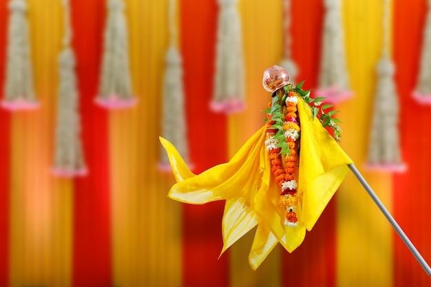 Gudi padwa marathi nieuwjaar Premium Foto