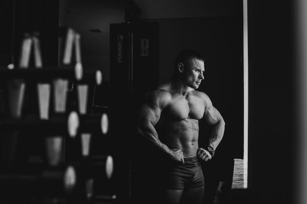 Guy lichte body kaukasisch buik Gratis Foto